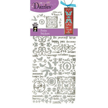Hot Off The Press DAZ-2056 Dazzles Stickers -Petite-Silver