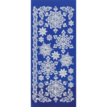 Hot Off The Press Dazzles Stickers -Snowflakes