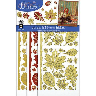 Hot Off The Press NOTM082186 - Dazzles Stickers Mix 'Ems Tricolor 3/Pkg