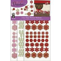 Hot Off The Press DAZ12-2490 Dazzles Stickers 3-Pkg-Pink Tiny Flowers