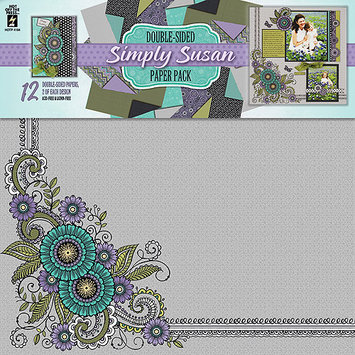 Hot Off The Press HOP-PPK-4194 Hot Off The Press Paper Pack 12 in. X12 in. 12-Sheets-Simply Susan