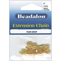 Wmu Beadalon 324B-010 Extension Teardrop Chain 2 7/Pkg