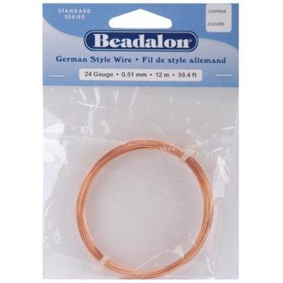 Wmu Beadalon 180CU024 German Style Round Wire 24 Gauge 39 Feet/Pkg