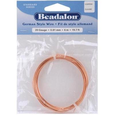 Wmu Beadalon 180CU020 German Style Round Wire 20 Gauge 19.7 Feet/Pkg