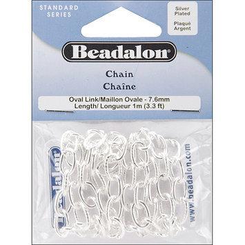 Beadalon 340B130 Oval Link Chain 7. 6mm 3. 28'/Pkg