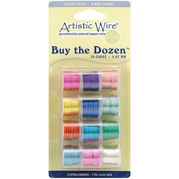Beadalon Buy The Dozen Colored 28 Gauge Silver-Plated Copper Wire