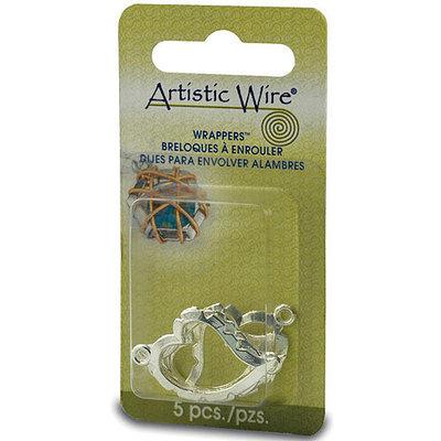 Beadalon 157214 Artistic Wire Wrapper Curved Heart 5PkgSilver