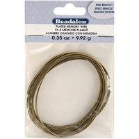 Wmu Beadalon 347A440 Gold Plated Memory Wire Oval Bracelet .35 Oz/Pkg