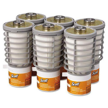 Kimberly-Clark KIM91067 Kimcare Continuous Air Freshener, Citrus Scented Refill, 48 mL Cartridge, 6 Air Freshener Refills Per Carton