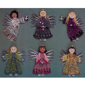 Lake City Craft Q228 Quilling Kit-Christmas Angels