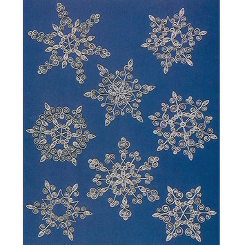 Lake City Craft Q261 Quilling Kit Snowflakes 16 Pieces