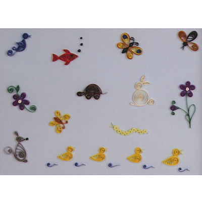 Lake City Craft Q282 Quilling Kit Little Critters - 12 Pieces