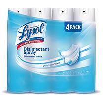 Lysol Disinfectant Spray, Clean Linen Scent (4 pk, 190 oz.)