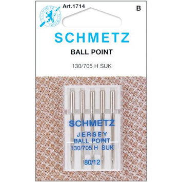 Euro Notions Ball Point Jersey Machine Needles-Size 12/80 5/Pkg