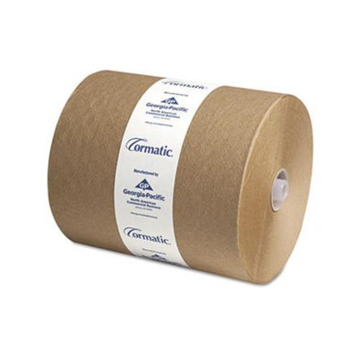 Cormatic 100% Recycled Hardwound Roll Towels, 8 1/4in. x 702ft, Brown, Carton Of 6