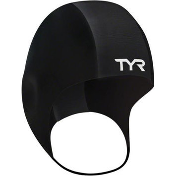 TYR Neoprene Swim Cap: Black; SM