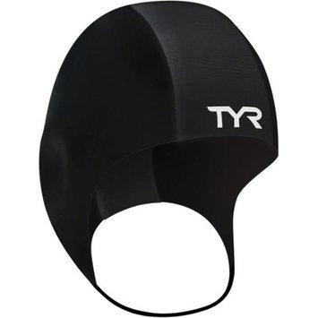 TYR Neoprene Swim Cap: Black; LG