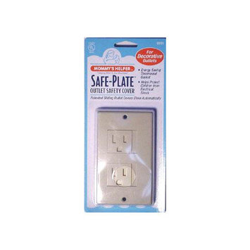 Mommy's Helper Safe-Plate Decor Outlet Cover in Almond