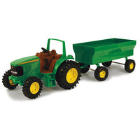 John Deere Tractor with Wagon Assortment 8in. 1:16 Scale - RC2 BRANDS, INC.
