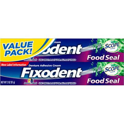 Procter & Gamble Company Food Seal Denture Adhesive Cream, Dawn to Dark, Plus Scope Flavor, 2 - 2 oz (57 g) packs