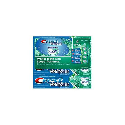Crest Fluoride Activity Toothpaste Min, 4/8oz Tubes
