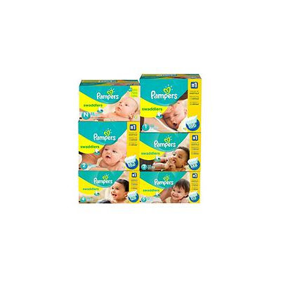 Procter & Gamble Pampers Swaddlers Diaper Super Economy Pack 108 Count - Size 5