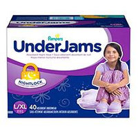 PAMPERS UNDERJAMS G8 GIRLS SIZE 8 40 CT