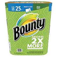 Bounty Select-A-Size, White, Paper Towels(12 Club Rolls equals 25 Regular Rolls, 145ct.)