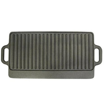 MBR Industries BC-65364 Cast Iron 20 in. Reversible Camping Grill Griddle