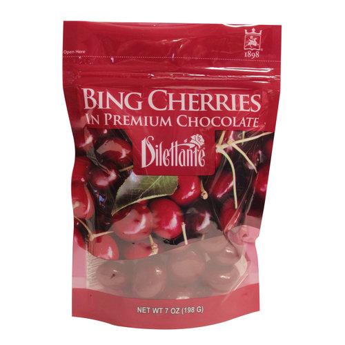 Dilettante Bing Cherries in Premium Chocolate, 7 oz