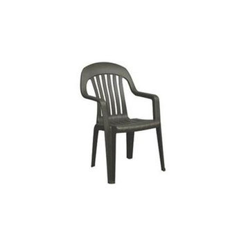 Adams Mfg Corp Earth Slat Seat Resin Stackable Patio Dining Chair 8254-60-3700