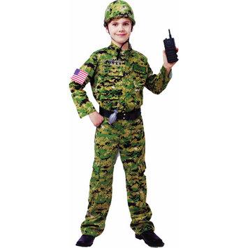The One Boy's Costume: Generic Army Infantry- Medium 7-8