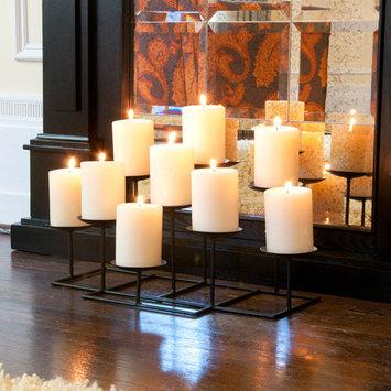 Southern Enterprises Galiana 9-Candle Candelabra, Black