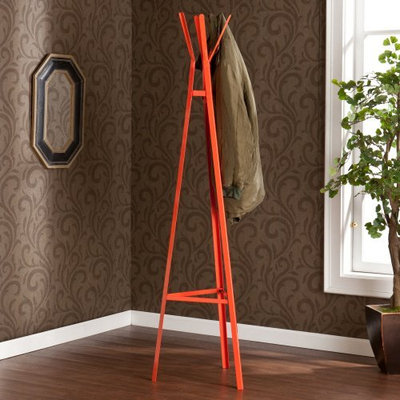 Southern Enterprises, Inc. Breckyn Metal Coat Rack - Orange