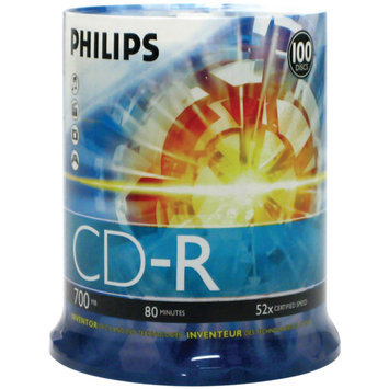 Philips 52x CD-R Media - 700MB - 100 Pack
