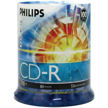 Philips 52x CD-R Media - 700MB - 100 Pack