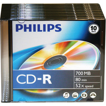 Philips 52x CD-R Media - 700MB - 10 Pack