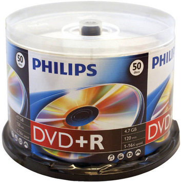 Philips 16x DVD+R Media - 4.7GB - 50 Pack