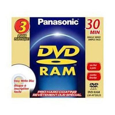 Panasonic 8cm Rewritable DVD-RAM for Camcorders LM-AF30U3