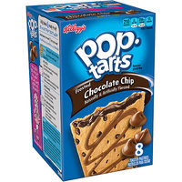 Kellogg's Pop-Tarts Frosted Chocolate Chip Toaster Pastries, 8 count, (Pack of 12)