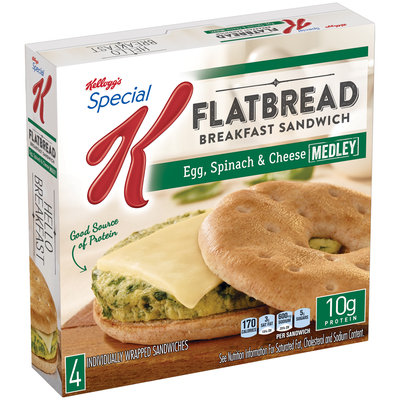 Special K® Kellogg's Flatbread Egg Spinach & Cheese Sandwiches