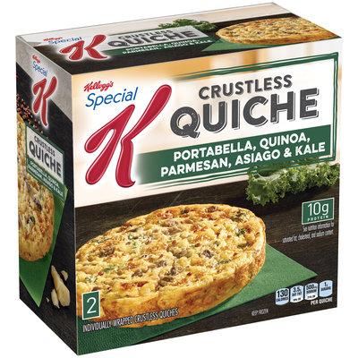 Special K® Kellogg Portabella, Quinoa, Parmesan, Asiago & Kale Crustless Quiche