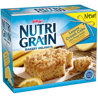 Kellogg's® Nutri-Grain® Bakery Delights Lemon Crumb Cake