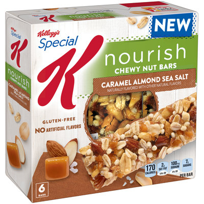 Special K® Kellogg's Nourish® Caramel Almond Sea Salt Chewy Nut Bars