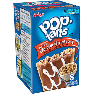 Kellogg's Pop-Tarts Frosted Chocolate Chip Cookie Dough Toaster Pastries, 8 count, (Pack of 12)