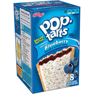 Kellogg's Pop-Tarts Frosted Blueberry Toaster Pastries, 8 count, (Pack of 12)
