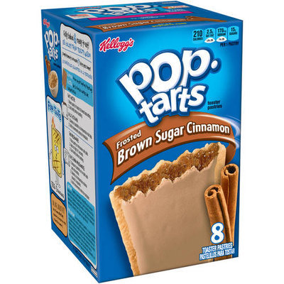Kellogg's Pop-Tarts Frosted Brown Sugar Cinnamon Toaster Pastries, 8 count, (Pack of 12)