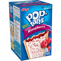 Kellogg's Pop-Tarts Frosted Raspberry Toaster Pastries, 8 count, (Pack of 12)