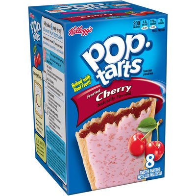 Kellogg's Pop-Tarts Frosted Cherry Toaster Pastries, 8 count, (Pack of 12)
