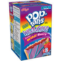 Kellogg's Pop-Tarts Wildlicious Frosted Wild! Berry Toaster Pastries, 8 count, (Pack of 12)